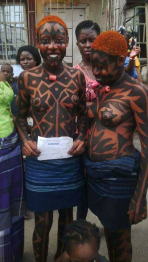 Virgins step out topless as they are initiated into womanhood during the Iria ceremony in Rivers state (photos)