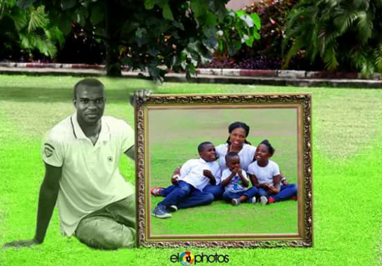Nigerian widow photoshops her late husband into family photos to celebrate his birthday