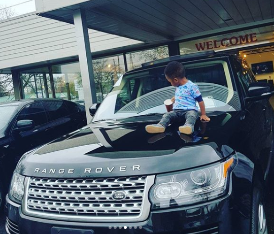 Photos:  Footballer, Uche Kalu buys his wife a brand new 2016 Range Rover autobiography as an early Christmas present