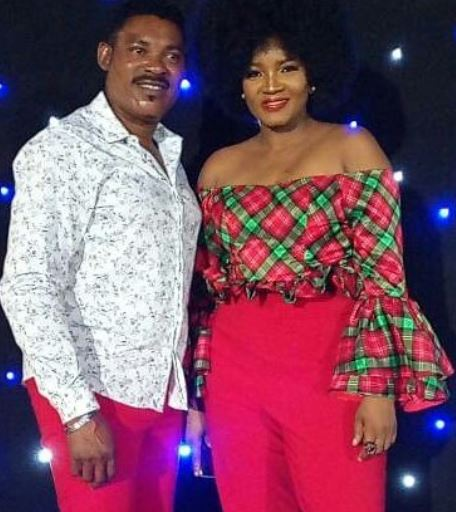 Photo | Omotola Jalade and hubby venture out for Christmas party in coordinating