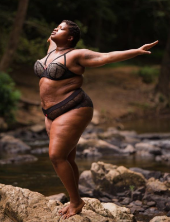Plus size Yoga Instructor shows off her curves as she shares her thoughts on self confidence