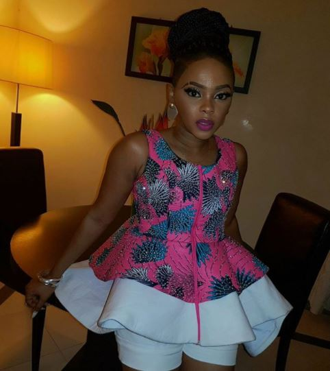 Chidinma Ekile flaunts her stunning dress to Muni Festival in Equatorial Guinea (Photos)