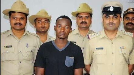 Photos: Nigerian national arrested in India for drug peddling