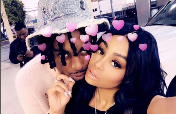Loved up photo of Blac Chyna and her boytoy Playboi Carti