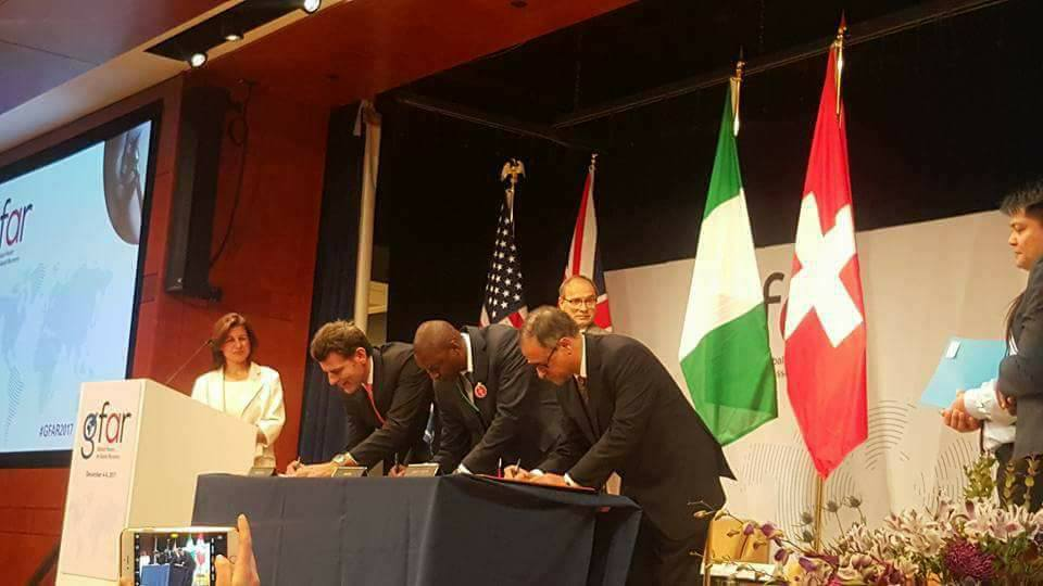 Photos: FG, Switzerland and World bank sign memorandum of Understanding for return of $321m Abacha loot