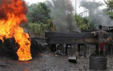 28 Illegal refineries destroyed In Edo State