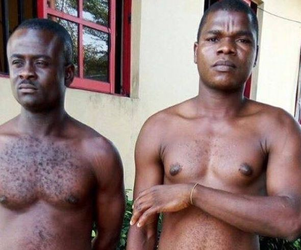 Photo: Rivers State Police command arrests?Two fake SARS operatives