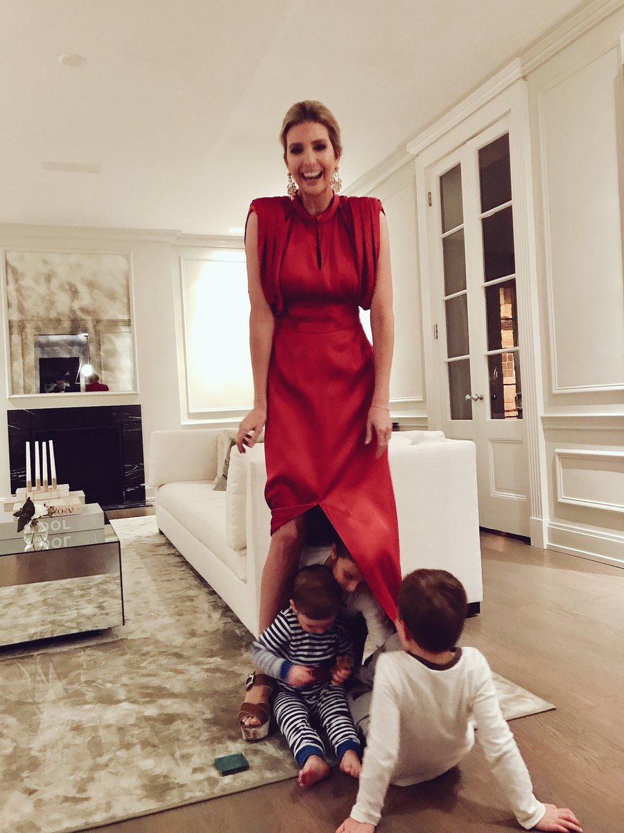 """Peak-a-boo!"": Ivanka Trump shares photo of her kids under her dress and Twitter users attack her for that and for her wrong spelling"