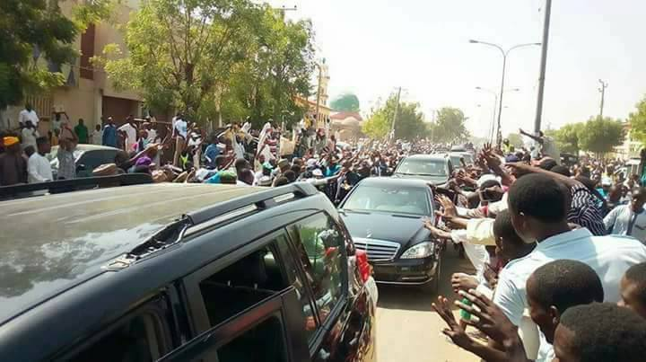 Check out the crowd that came out to welcome President Buhari in Kano today (photos/video)