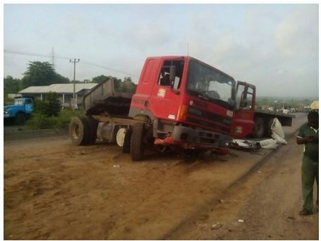 Two people crushed to death by a truck in Ogun State