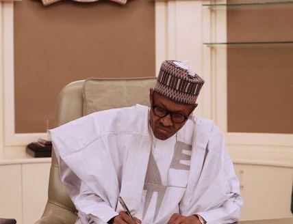 President Buhari signs?National Intelligence Agency Pensions bill and two others