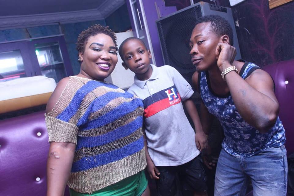 Nigerian lady celebrates her little son