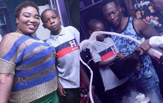 Nigerian lady celebrates her little son