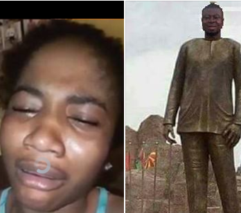 Hilarious! Lady from Imo state weeps as she demands Governor Okorocha to erect her own statue (video)