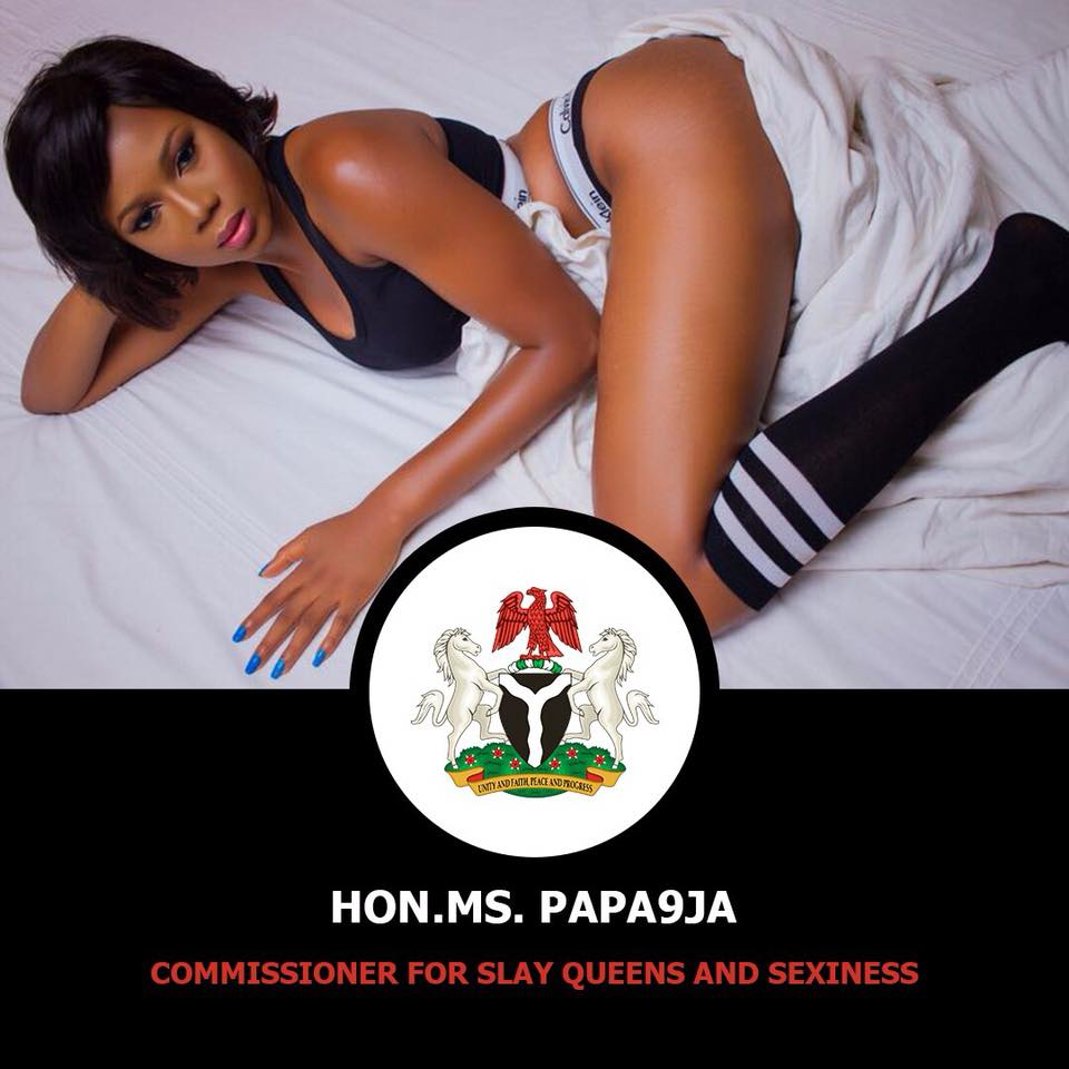 Another lady declares herself the Commissioner of Slayqueens and Sexiness, shares sexy portraits...lol