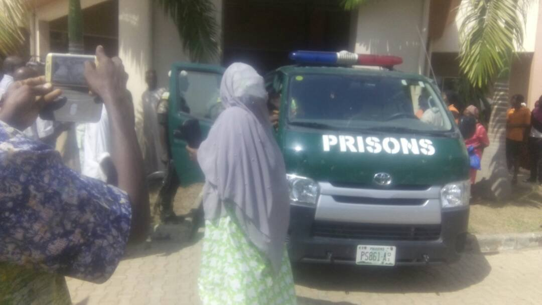 Photos: Maryam Sanda who stabbed her husband to death in Abuja, appears in court as her trial commences