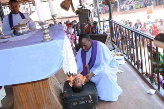Father Mbaka allegedly resurrects a dead baby during crusade