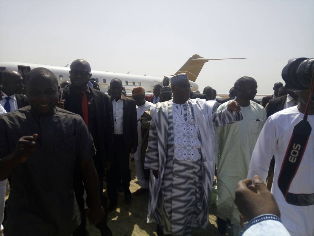 Photos: Atiku Abubakar in Minna to visit former military leader, IBB