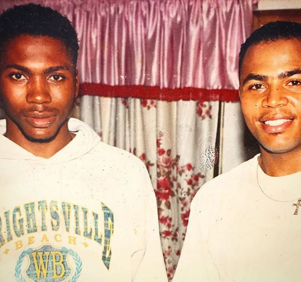 Major throwback photo of Nollywood stars, Ramsey Nouah and Elvis Chucks