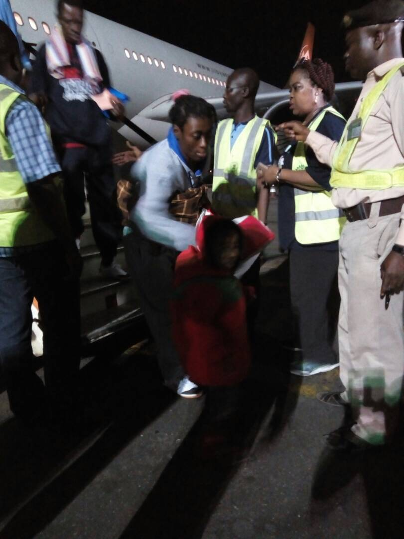 Photos/Video; 164 Nigerian migrants return from Libya