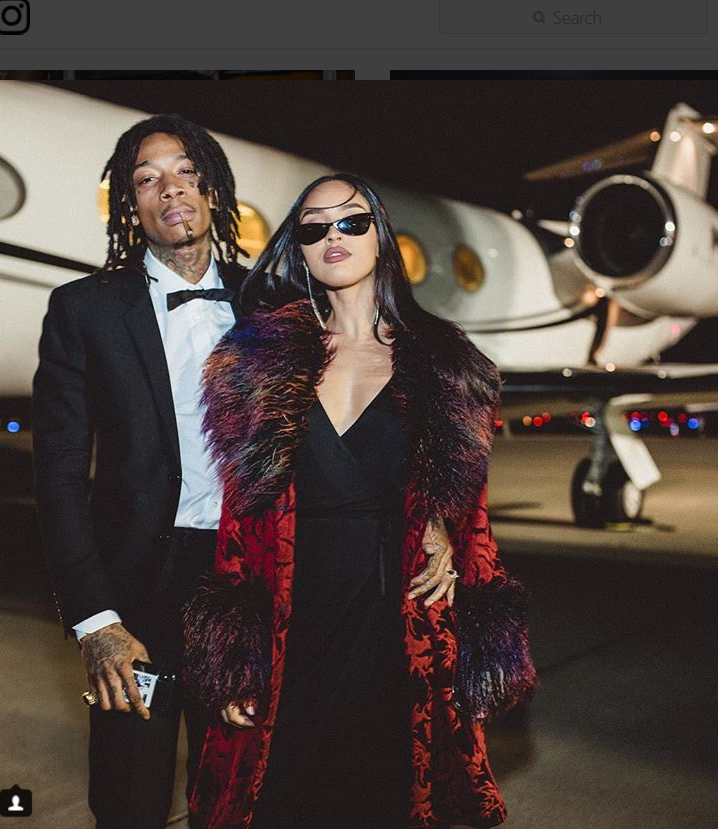 Wiz Khalifa and his woman, Izabela Guedes, look happy and in love!