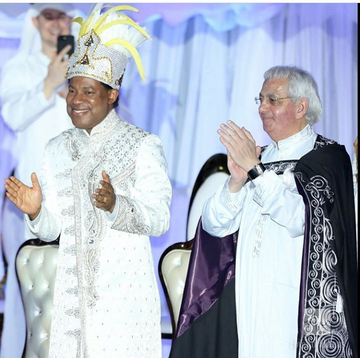 Photos from Pastor Chris Oyakhilome costume birthday party