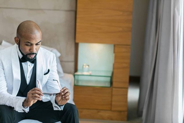 Banky W shares photo of himself on his wedding day, describes it as the best day ever!