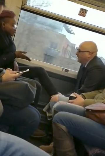 Man who was disrespected and threatened by a Nigerian lady aboard a London train has been identified