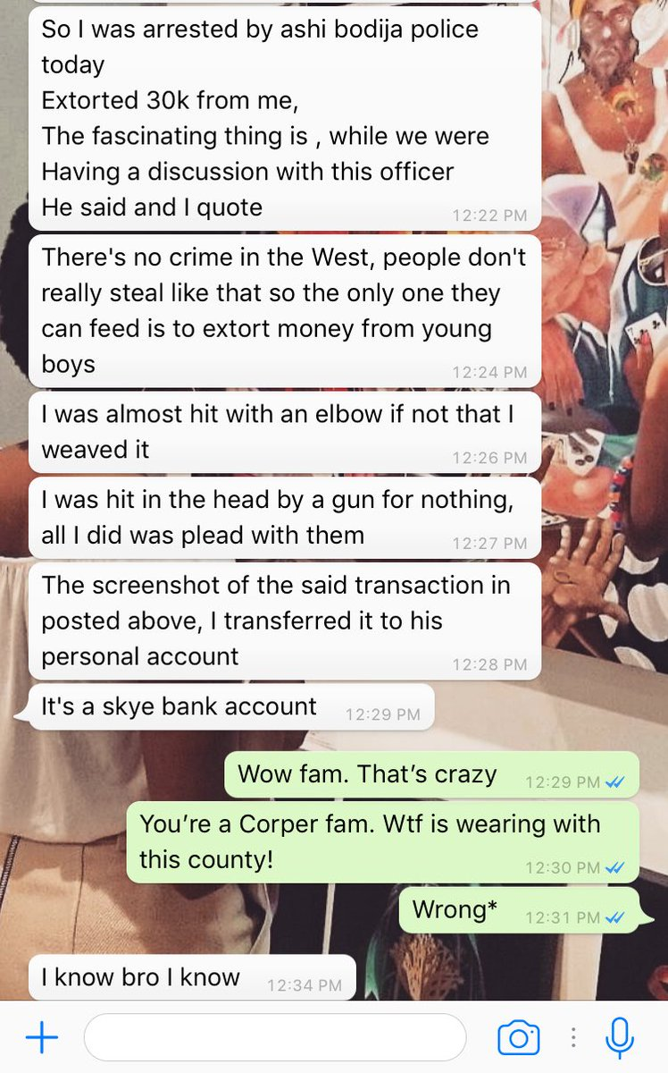 NYSC member shares screenshot of N30k bribe he paid to a police officer