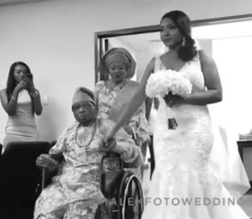 Doctors told this bride that her father wouldn