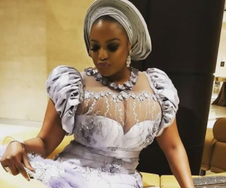 Actress Funke Adesiyan and her massive boobs attend Senate President, Bukola Saraki