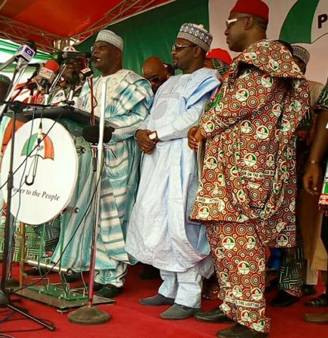Photo: Atiku Abubakar speaks at PDP convention, says Nigeria is now more divided and acrimonious than at any time since the civil war