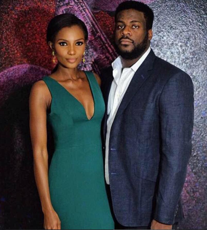 Agbani Darego finally shows us her tall and gaddamit Hot husband...(photo)