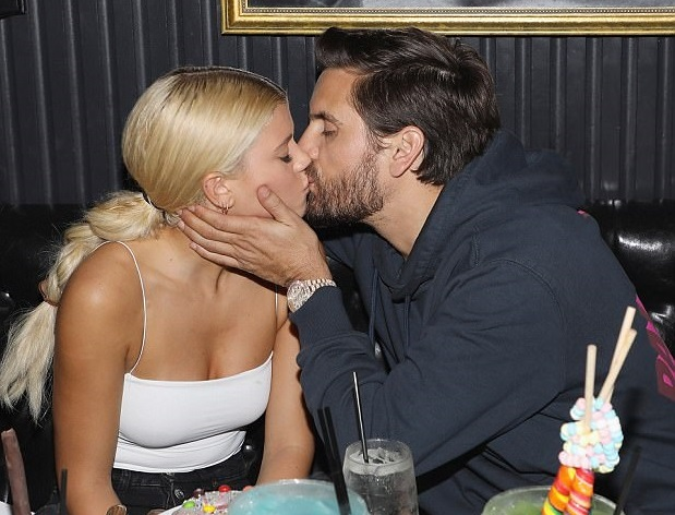 Scott Disick locks lips with girlfriend Sofia Richie as they pack on the PDA in Miami (Photos)