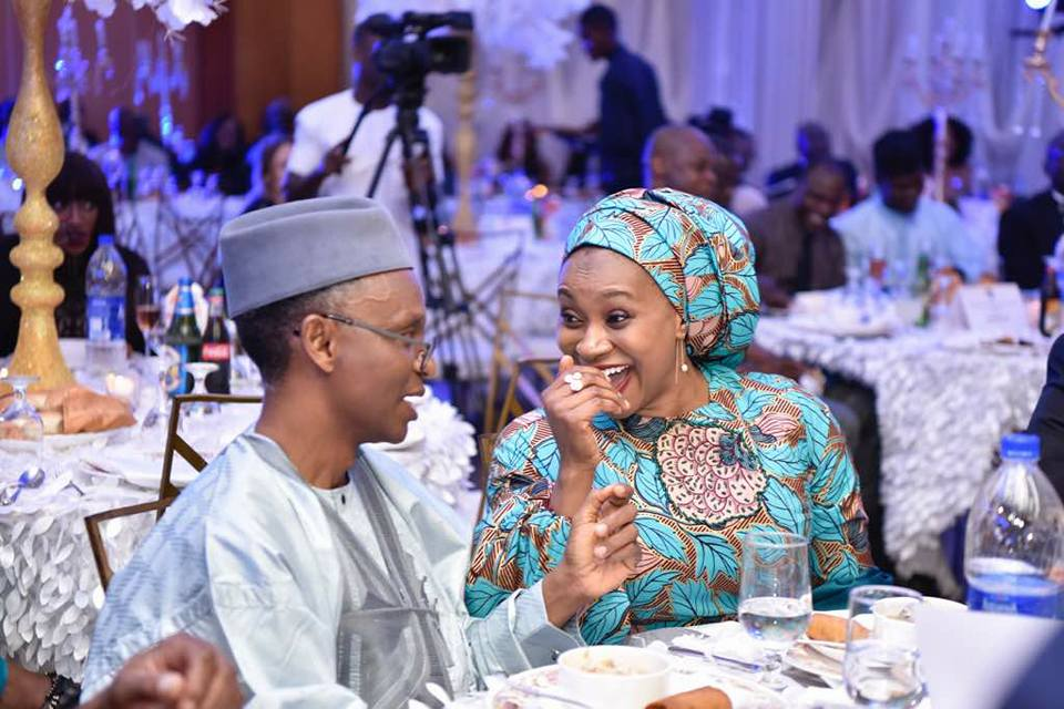 Check out these loved up photos of Kaduna state governor, Nasir El-Rufai and his wife, Aisha
