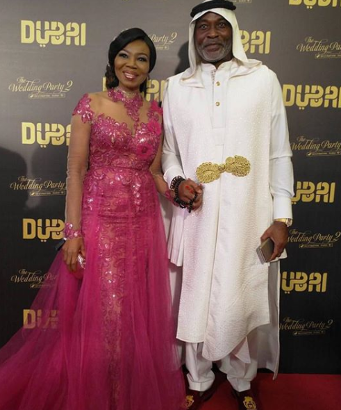 First photos! Mo Abudu, Banky W, RMD, Patience Ozokwor, Lai Mohammed, Adesua, Betty Irabor, Iretiola Doyle, others at the premiere of Wedding Party 2