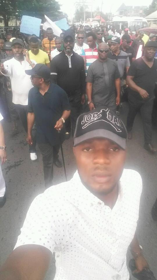 Photos: Rivers state indigenes stage a Support SARS rally