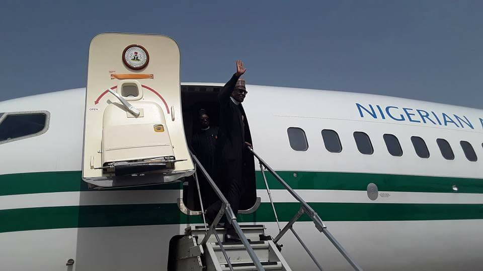Photos: President Buhari departs Nigeria for One Planet Summit in Paris
