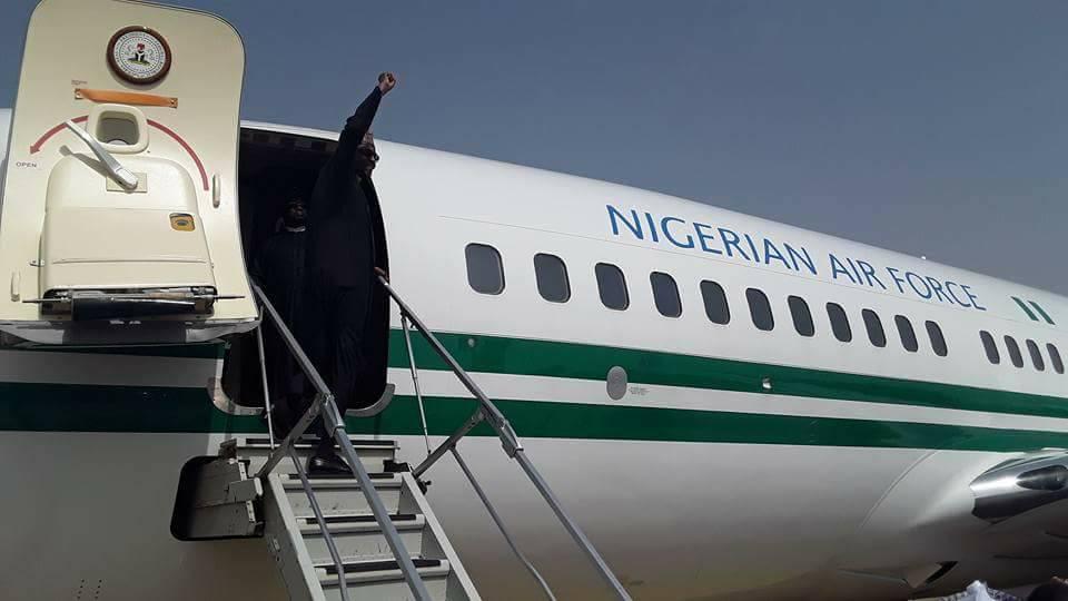 Photos: President Buhari departs Nigeria for One Planet Summit in Paris
