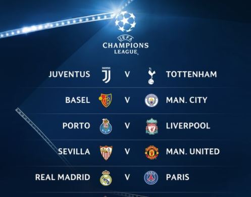 UEFA Champions League last-16 draw: Chelsea vs Barcelona, Real Madrid vs PSG (See Full list)