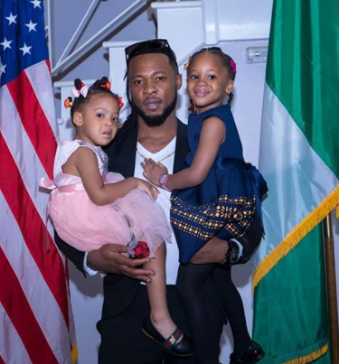 Flavour parties with his daughters at the US Consular General?s House
