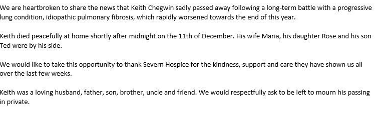 """TV presenter Keith Chegwin dead aged 60 from lung condition after posting haunting final tweet telling fans """"I?ll be back ? but not for a bit"""""""