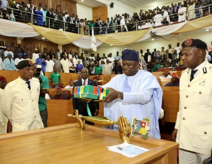 Governor Ambode presents the 2018 budget to the Lagos State House of Assembly