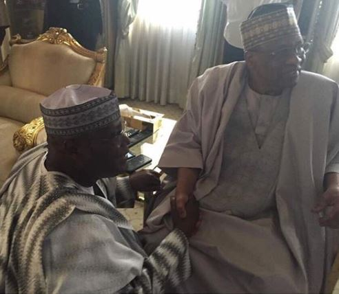 New photo of Atiku Abubakar kneeling before Ibrahim Babangida goes viral online