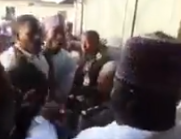 Shocking video of former Borno state gpvernor, Ali Modu Sheriff, being confronted by Borno state residents that have accused him of funding Boko haram