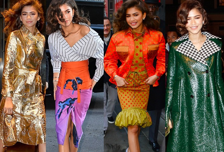 Stunning Zendaya Coleman dazzles in six separate ensembles in one day (Photos)