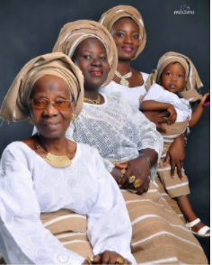 Checkout this beautiful four generation photo