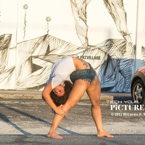 Beautiful woman who is being referred to as the most flexible woman in the US strikes unbelievable poses
