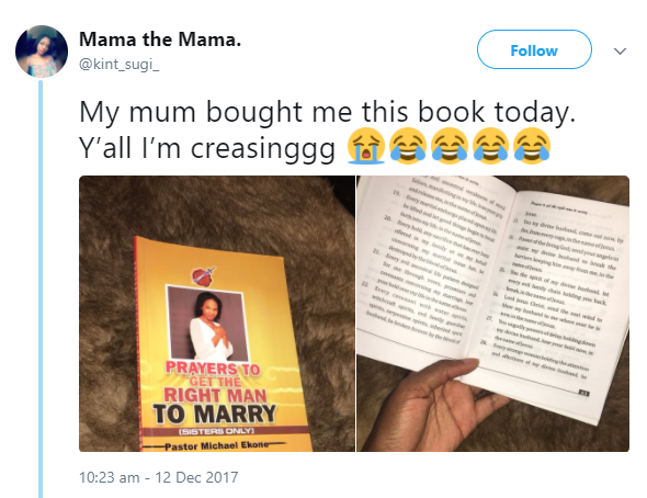 Nigerian lady shares hilarious photos of the inner pages of prayer book she got from her mum