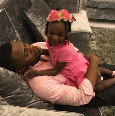 Ubi Franklin welcomes his daughter to Nigeria, shares video from her welcome party